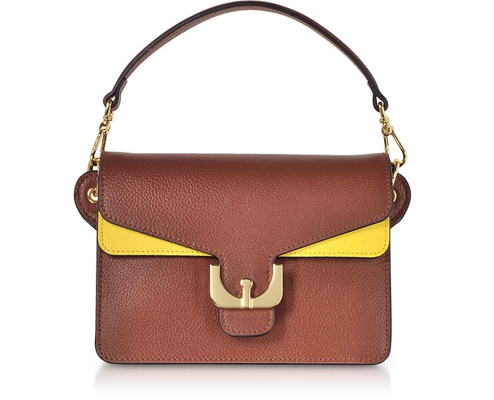 Ambrine Soft Color Block Grained Leather Mini Shoulder Bag - Coccinelle