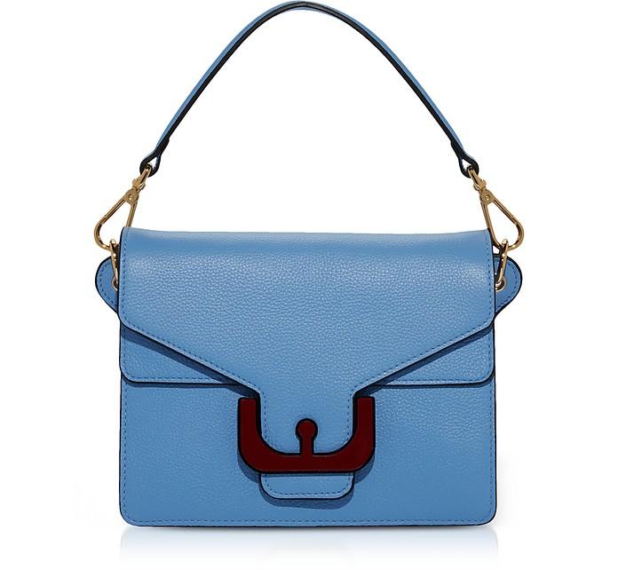 Ambrine Graphic Grained Leather Medium Satchel Bag w/Shoulder Strap - Coccinelle