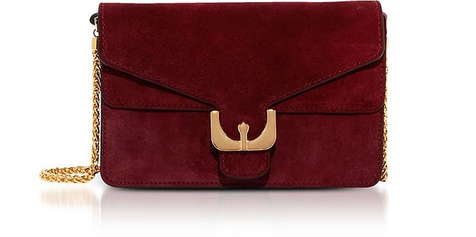 Ambrine Grape Suede Crossbody Bag