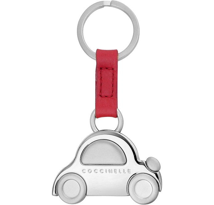 san francisco to buy authentic quality Coccinelle Signature Silvertone Metal Car Key Ring