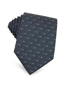 Small Logo Woven Silk Tie