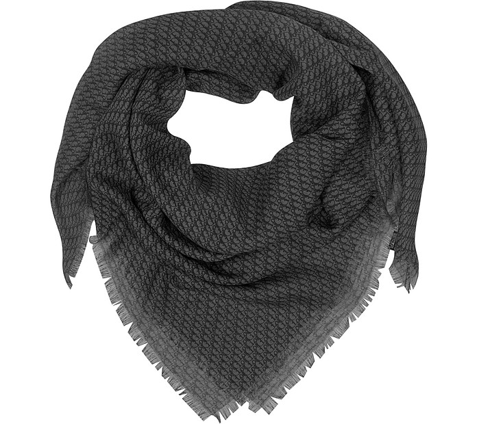 Oversize Wool Blend Wrap - Christian Dior