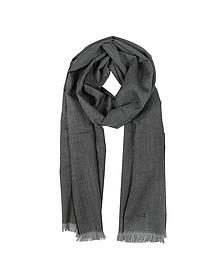 White Stitching Wool Scarf