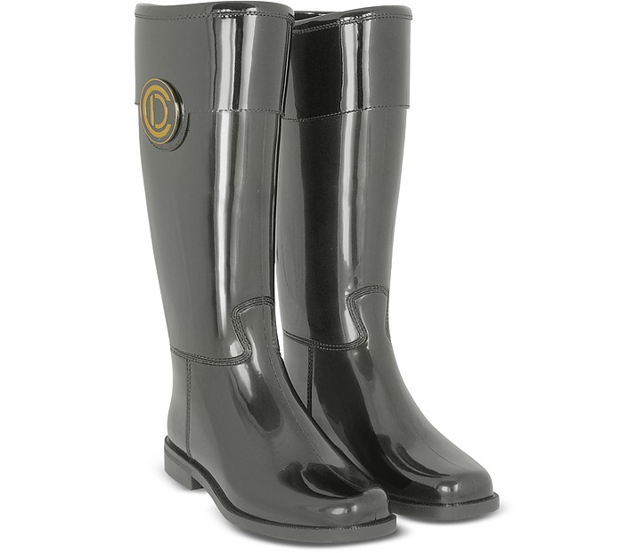 Initials Gunmetal Rain Boots