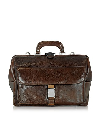 dba29a95a23b Large Brown Hammered Leather Doctor Bag…