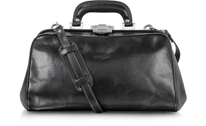 Doktortasche aus schwarzem Leder - Chiarugi
