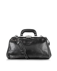 Black Leather Handmade Professional Doctor Bag  - Chiarugi