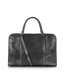 Double Handle Leather Briefcase - Chiarugi