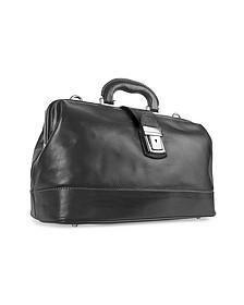 Black Genuine Italian Leather Doctor Bag - Chiarugi