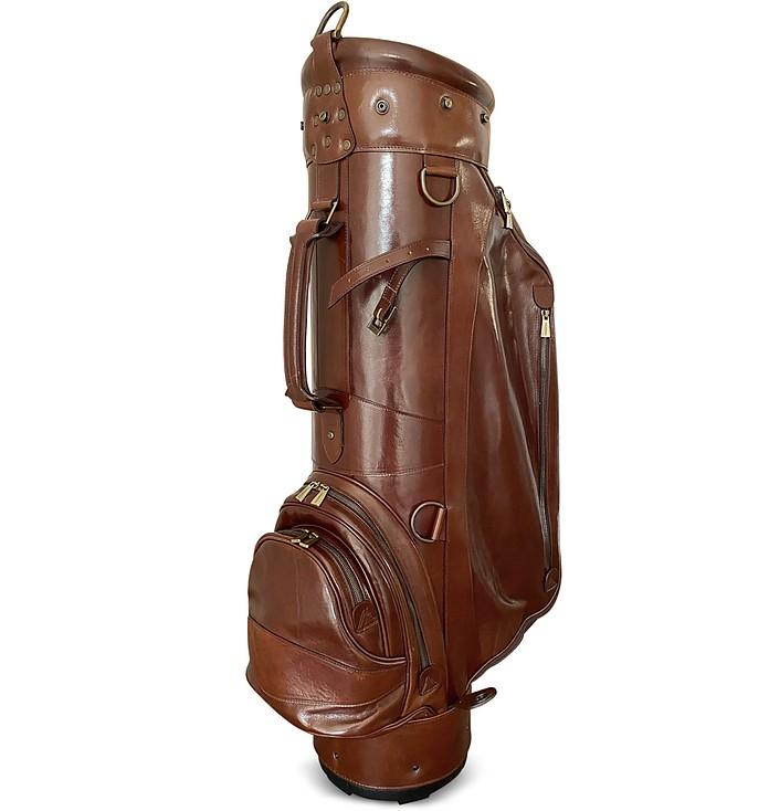 "Pro Staff 9.5"" Genuine Italian Leather Golf Bag - Chiarugi"