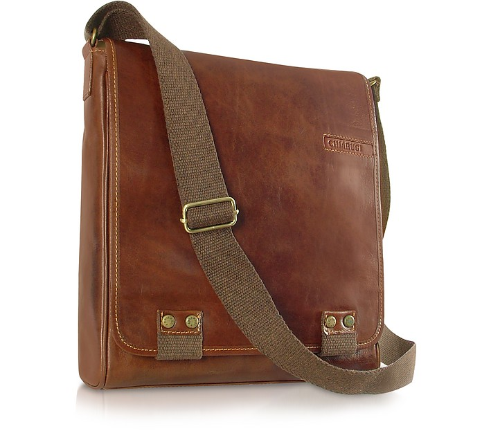 Chiarugi Handmade Brown Genuine Leather Crossbody Bag at FORZIERI UK 8771652a9f30