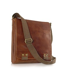 Handmade Brown Genuine Leather Crossbody Bag - Chiarugi