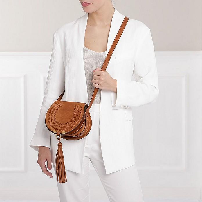 3fb8bc17 Chloe Marcie Mini Tassel Bag Suede Caramel - FORZIERI