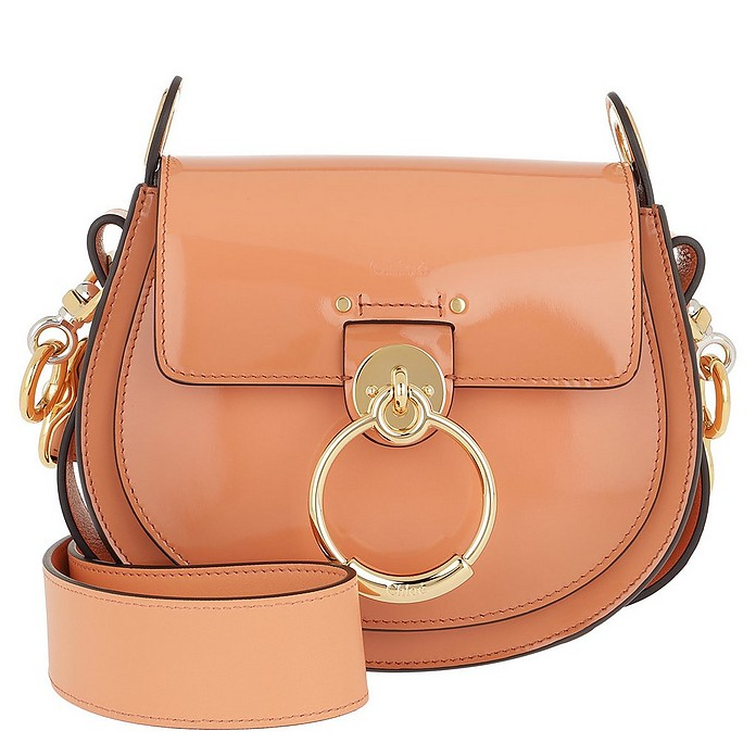 Tess Shoulder Bag Small Leather Canyon Sunset - Chloe
