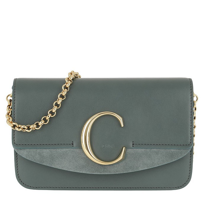 C Clutch With Cahin Cloudy Blue - Chloe / クロエ