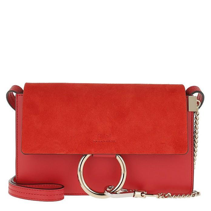 Faye Bag Small Plaid Red - Chloe