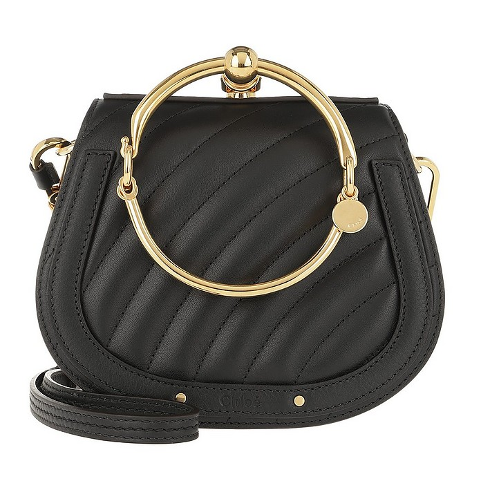 Nile Crossbody Bag Quilted Leather Black - Chloe