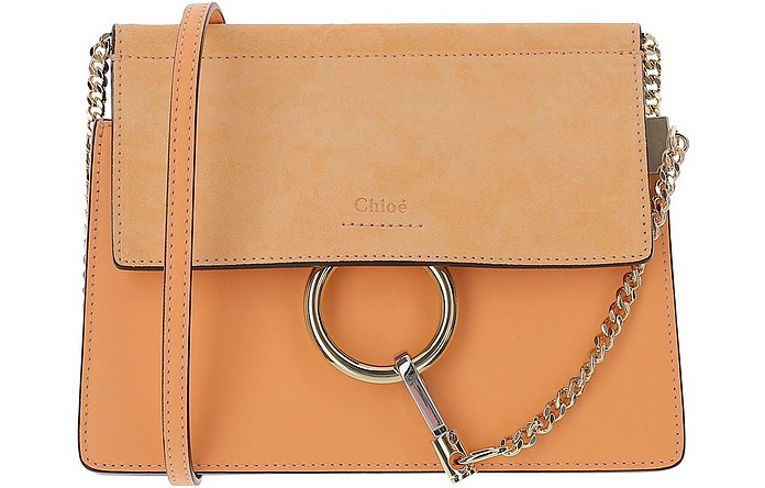 Mini Faye Orange Leather Shoulder Bag - Chloe