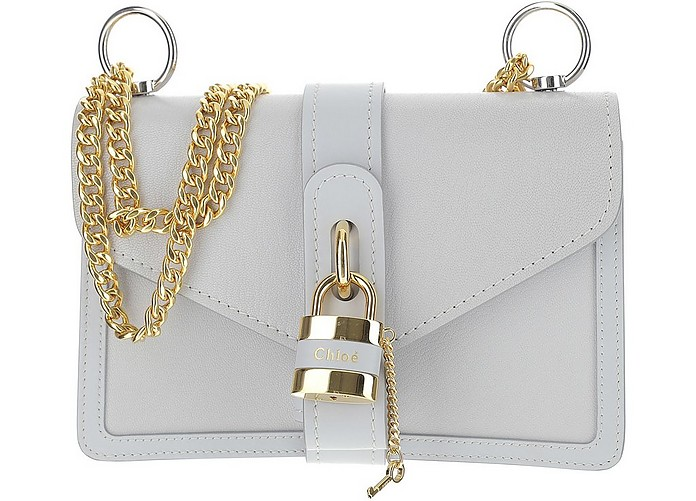 White Aby Chain Shoulder Bag - Chloé