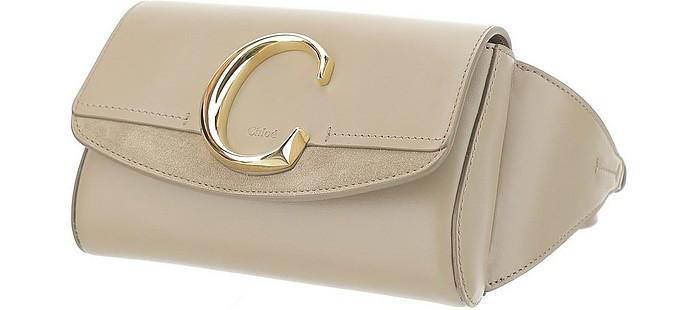 Nude Leather & Suede C Belt Bag - Chloé