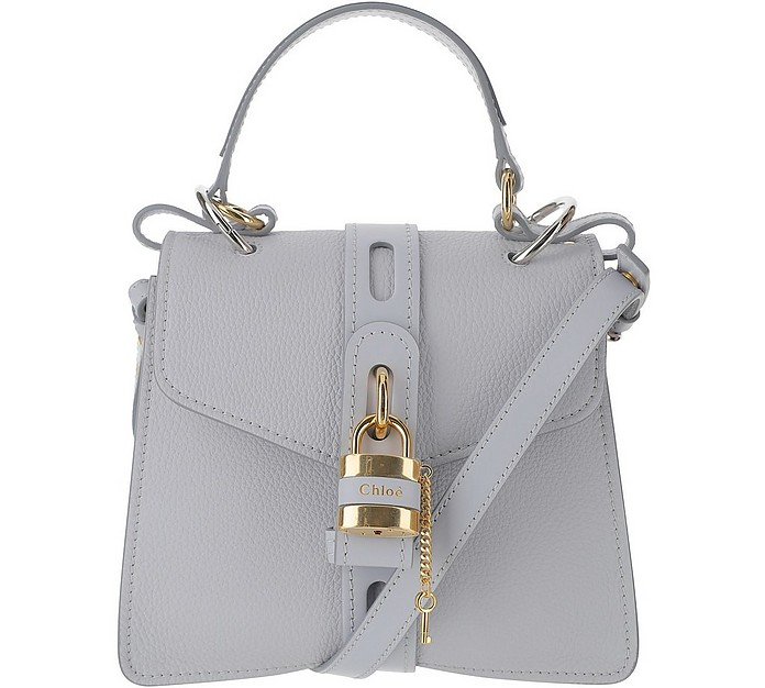 White Grained Leather Small Aby Day Shoulder Bag - Chloe