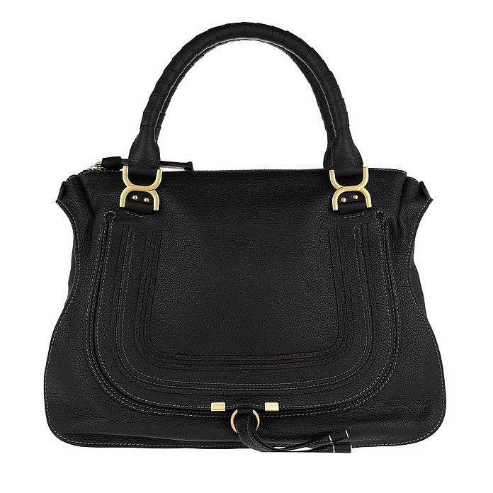 Marcie Large Shoulder Bag Black - Chloe