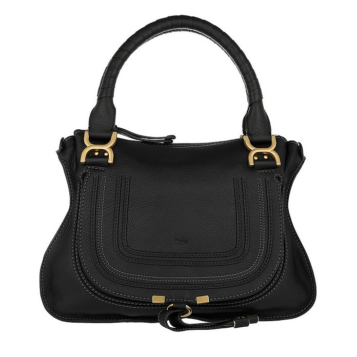 Marcie Medium Shoulder Bag Black - Chloe