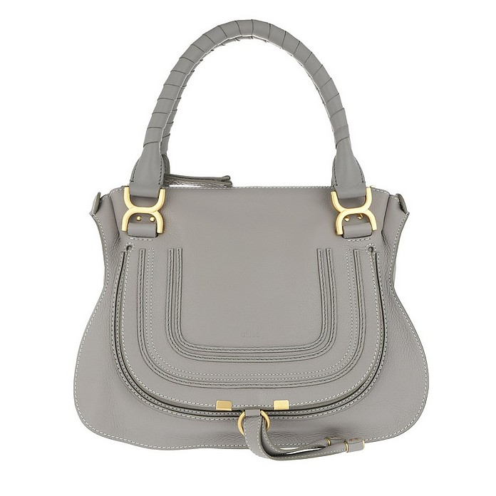 Marcie Medium Shoulder Bag Cashmere Grey - Chloe / クロエ