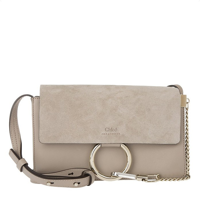 Faye Small Shoulder Bag Motty Grey - Chloe