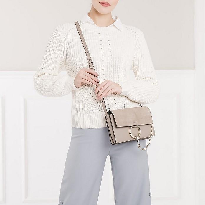 5d1536ff22617 Chloe Faye Small Shoulder Bag Motty Grey at FORZIERI Canada