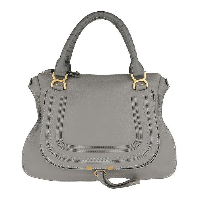Marcie Shoulder Bag Large Cashmere Grey - Chloe