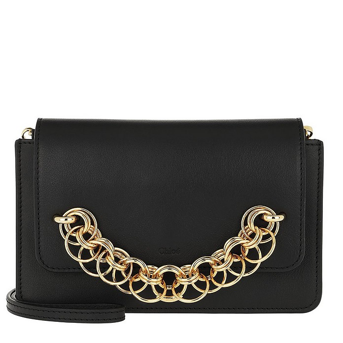 Drew Bijou Clutch Leather Black - Chloe