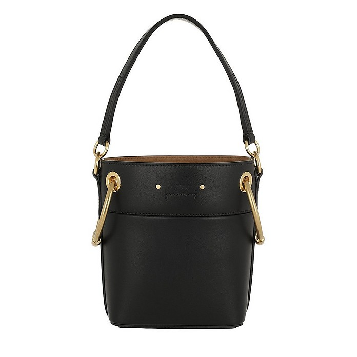 Mini Roy Bucket Bag Leather Black - Chloe
