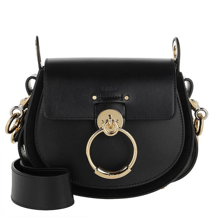 Tess Shoulder Bag Leather Black - Chloe