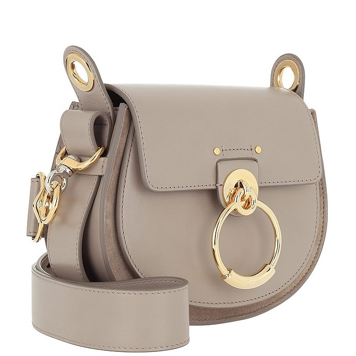 a51e5d263d3c0 Chloe Tess Shoulder Bag Small Leather Motty Grey at FORZIERI