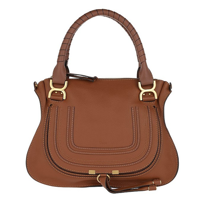 Marcie Medium Shoulder Bag Tan - Chloe