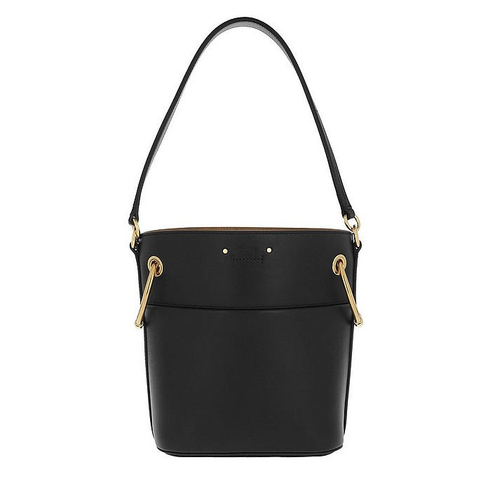Roy Bucket Bag Small Smooth Calfskin Black - Chloe
