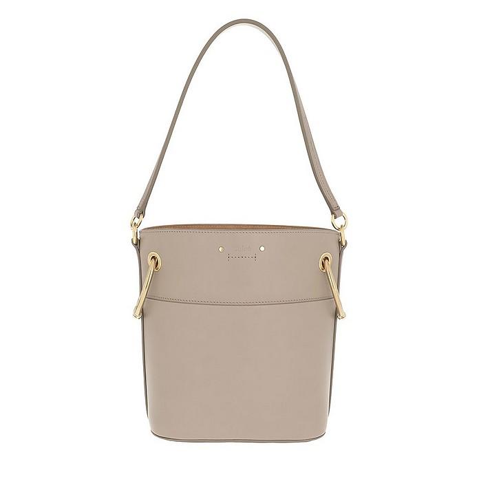 Roy Bucket Bag Small Smooth Calfskin Motty Grey - Chloe