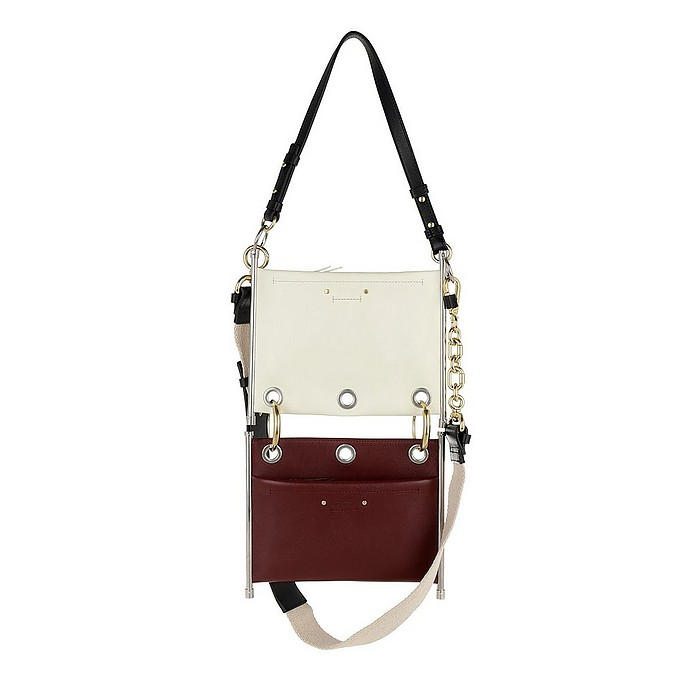 ff7485f4e868 Chloe Roy Clutch Double Bag Small Off White Red at FORZIERI