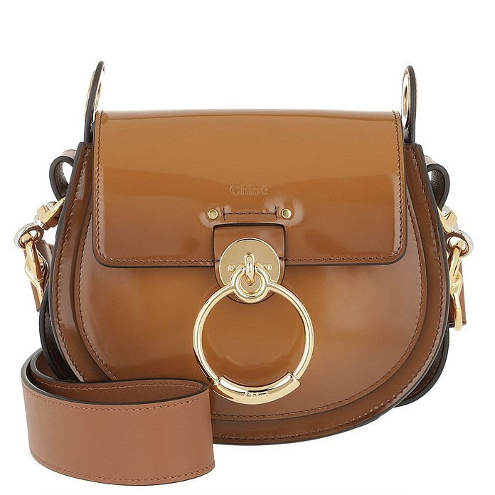 Tess Shoulder Bag Small Leather Caramel - Chloe