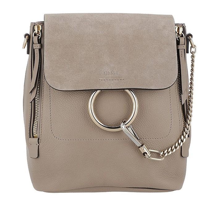 Faye Backpack Small Motty Grey - Chloé