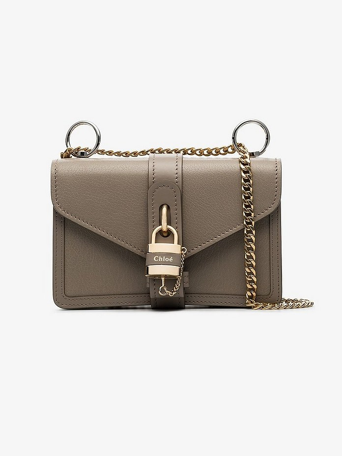 Grey Aby lock leather bag - Chloé