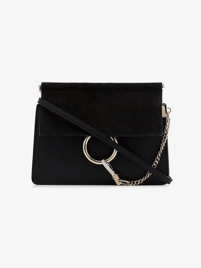 Black Faye leather mini bag - Chloé