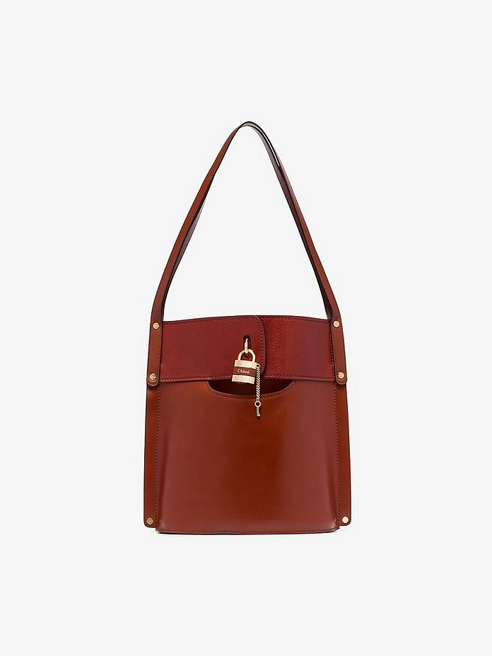 Brown Aby leather tote bag - Chloé