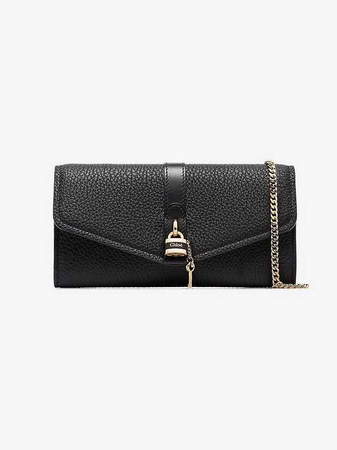 Black Aby leather clutch bag - Chloé