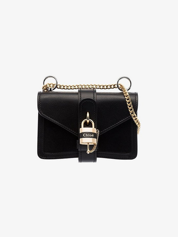 Black Aby mini leather cross body bag - Chloé