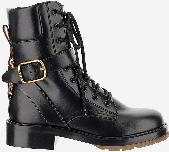 Black Diane Kombat Boots - Chloé