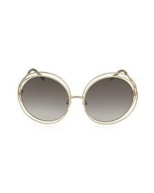 CARLINA CE 114S Metal Oval Women's Sunglasses - Chloe