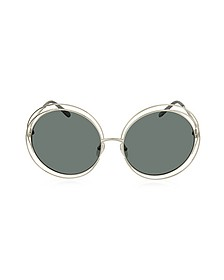 CARLINA CE 114S Metal Oval Women's Sunglasses - Chloe