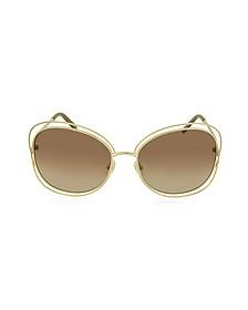 CARLINA CE 119S 786 Gold Metal Square Women's Sunglasses - Chloe
